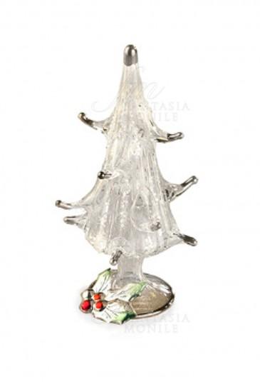 Pungitopo Decorazioni Natalizie.Decorazione Natalizia Albero Natale Vetro Soffiato Argento 925 Acca