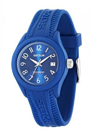 Orologio Sector Unisex Steeltouch Blue Datario Acciaio Silicone R3251576505
