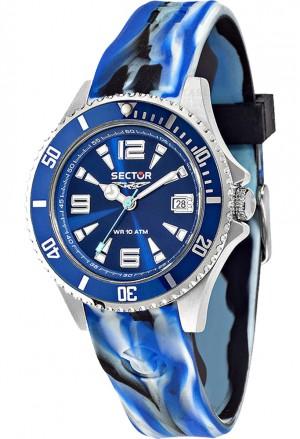 Orologio Sector Uomo Camouflage 230 Blue Solo Tempo Datario Acciaio R3251161021