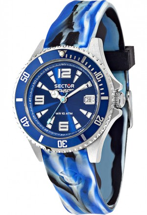 Orologio Uomo Camouflage 230 Blue Sector R3251161021
