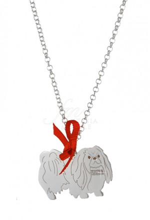 Collana Cane Pechinese Argento 925 Dog Happy Pets Enpa Y1JB9FM