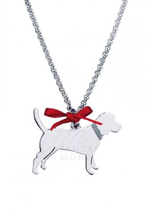 Collana Charm Cane Meticcio Medio Argento 925% Dog Happy Pets Enpa Unoaerre R51TFFM