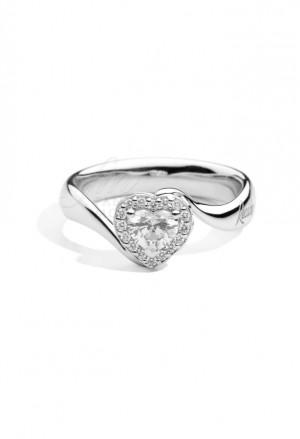 Anello Recarlo Cuore Modello Anniversary Love Diamanti Naturali Oro 18kt Donna R67SC002/023-15
