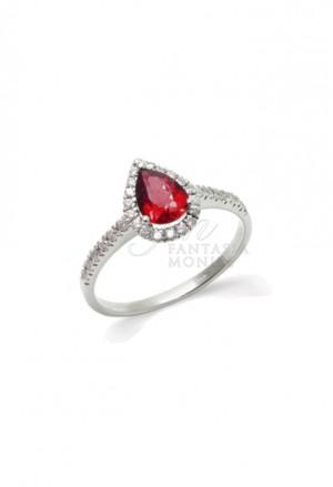 Anello Rubino Taglio Goccia Diamanti Naturali Mario Porzio MPCO245RB-HBWJ