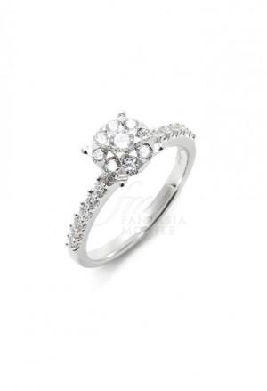 Anello Donna Oro 18kt Diamanti Mezzo Carato Mario Porzio MP100-22-3WUF