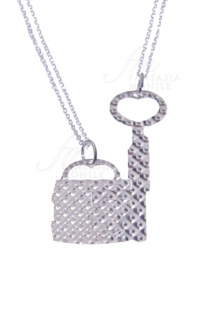Collana Lucchetto Chiave Amore Argento LM. DIAM.B CAT/B 2544