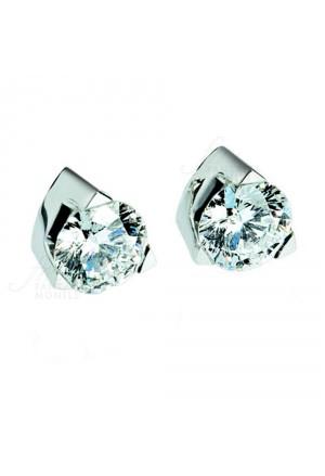 Orecchini Bibigi Punto Luce Diamanti Naturali Oro Bianco 18kt Modello Louvre Donna 02969183