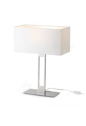 Lampada Studio Hervit Acciaio Inox Lucidato Cappello Avorio Home Decor 26244