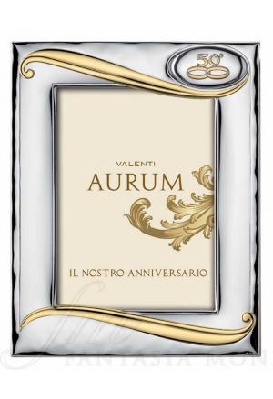 Cornice Portafoto 50° Anniversario Nozze Oro Argento Bilamina 13x18 Valenti 12430/4L 50