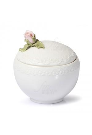 Zuccheriera Hervit Modello Romance Porcellana Degustazione Decoro Rosellina Regalo Nozze 8Z1J1FM