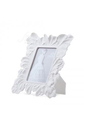 Cornice Portafoto Hervit Porcellana Bianca Decoro Foglie Dimensione Esterna 17X20 Regalo Matrimonio Z8R5QFM
