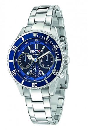 Orologio Sector Uomo Multifunzione Blue Misura Media Modello 230 Acciaio R3253161009