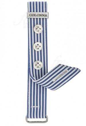 Ricambio Polsino Sartoriale Uomo Orologi Colonna Cotone Tessuto Righe Azzurre 18mm 4DKZ8FM
