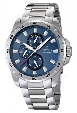 Orologio Festina Uomo Multifunzione Quadrante Blu Acciaio Silver F16662/2