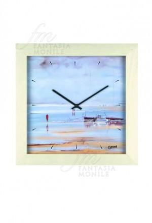 Orologio Parete Lowell Cornice Legno 05491