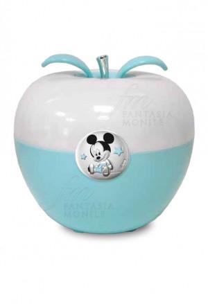 Lampada Luce Notturna Disney Celeste Applicazione Topolino Mickey Mouse Argento D327/C