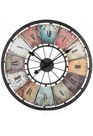 Orologio Lowell Da Parete Muro Stile Shabby Chic Cassa Metallo Anticato 21467