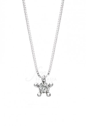 Collana Recarlo Faceround Oro 18kt Diamanti PK1RO019/005-42