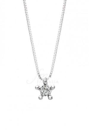 Collana Recarlo Punto Luce Diamante Naturale Oro18kt Modello Principesse Donna PK1RO019/005