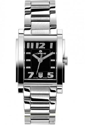 Orologio Uomo Lorenz Collezione Bel Ami Datario Rettangolare Acciaio 024494AA