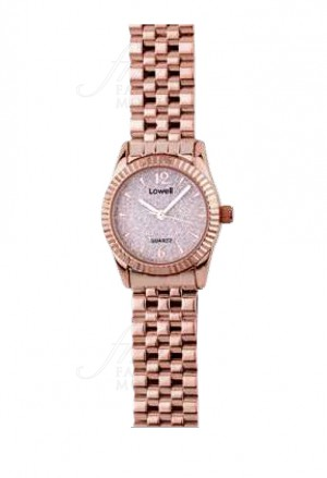 Orologio Lowell Donna Solo Tempo Rose Quadrante Rosa Stone Powder Diametro 26mm PL5170-5502