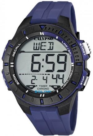 Orologio Calypso Uomo Digitale Crono Allarme Datario Nero Viola K5607/2