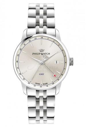 Orologio Philip Watch Uomo Anniversary Gmt Silver R8253150003