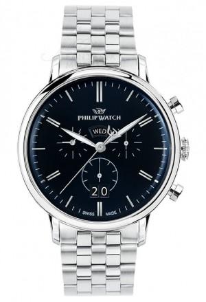 Orologio Philip Watch Uomo Modello Truman Chrono Datario Blu Scuro R8273695003