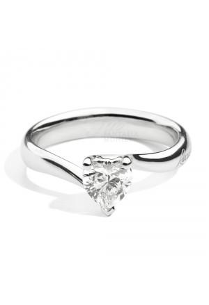 Anello Solitario Recarlo Diamante Naturale Taglio Cuore Valentin Modello Anniversary Love Oro 18kt Donna R67SO001/030-14
