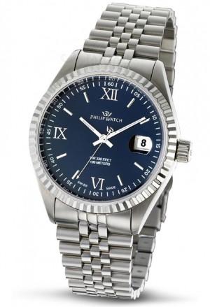 Orologio Philip Watch Uomo Caribe Datario Quadrante Blu R8253597014