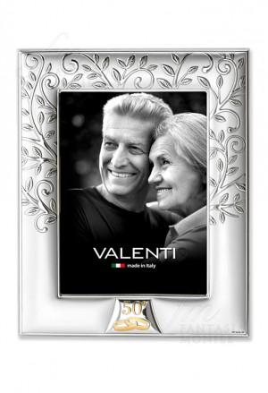 Cornice Portafoto 50° Anniversario Nozze Oro Albero Della Vita Argento Bilamina 18x24 Valenti 657/5L