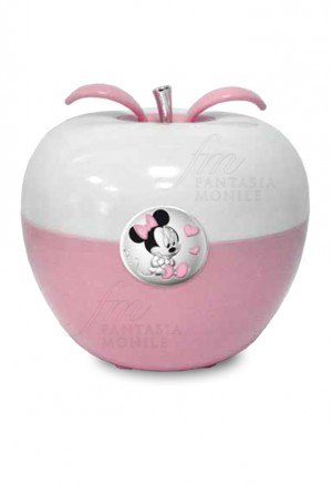 Lampada Luce Notturna Disney Rosa Applicazione Minni Argento D327/R