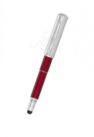 Penna Sfera Tappo Chiavetta USB 8 GB Gommino Touch Rosso 2625USB