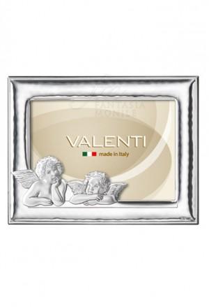 Cornice Portafoto Angelo Custode Bimbo Argento Bilamina 13X18 Valenti 12301/3L