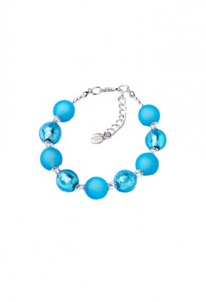 Bracciale Vetro Murano Turchese Made In Italy Momilu By Acca M.CHIC.2B