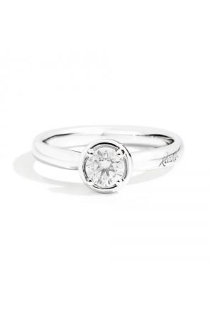 Anello Solitario Recarlo Modello Bianca Diamante Naturale Oro 18kt Donna R23SO364/018-13