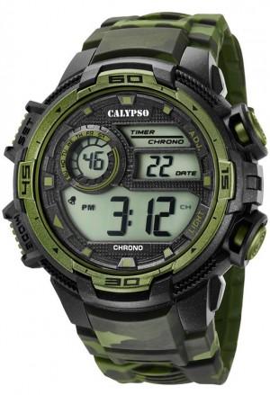 Orologio Calypso Uomo Digitale Camouflage Verde K5723/2