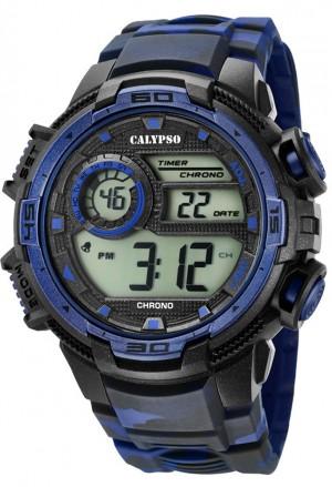 Orologio Calypso Uomo Digitale Camouflage Blu K5723/1