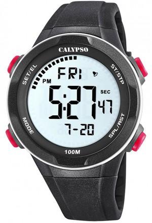 Orologio Calypso Uomo Digitale Crono Allarme Nero K5780/2