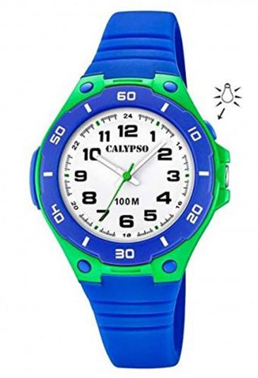 Orologio Calypso Bambino Kids Solo Tempo Illuminazione Gomma Blu K5758/5