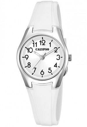 Orologio Calypso Lady Sportivo Bianco Gomma 10ATM K5750/1