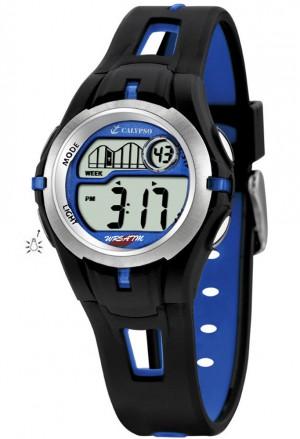 Orologio Calypso Bambino Kids Digitale Cronografo Allarme Nero Blu Gomma K5506/3