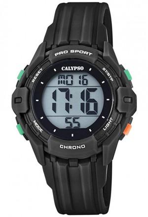 Orologio Calypso Kids Digitale Impermeabile 10ATM Nero Gomma K5740/6
