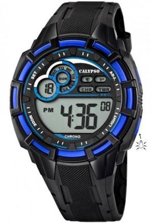 Orologio Calypso Uomo Digitale Crono Countdown Allarme Luminoso Nero Blu K5625/2