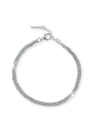 Bracciale Unoaerre Donna Intreccio Sfere Diamantate Fashion Style AG1378