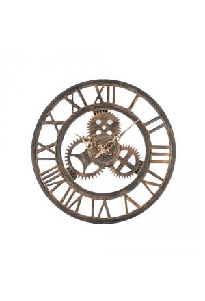 Orologio Lowell Da Parete Muro Scheletrato Mdf Industrial Style Diametro 43 21458