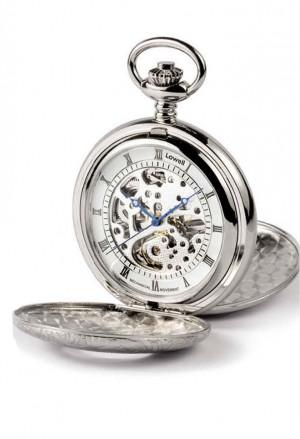 Orologio Lowell Tasca Savonette Scheletrato Silver Numeri Romani Kenneth PO8100