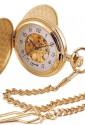 Orologio Lowell Tasca Savonette Scheletrato Gold Lyonshall Regalo Matrimonio PO4296