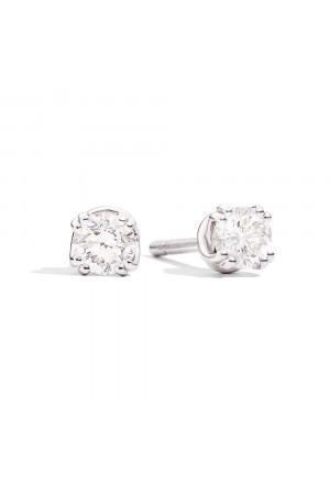 Orecchini Recarlo Punto Luce Diamanti Naturali Oro Bianco 18kt Modello Isabella E61PX001/B040