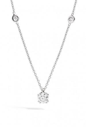 Collana Recarlo Punto Luce Collezione Isabella Diamante Naturale Oro 18kt Donna P61PX001/B020-45